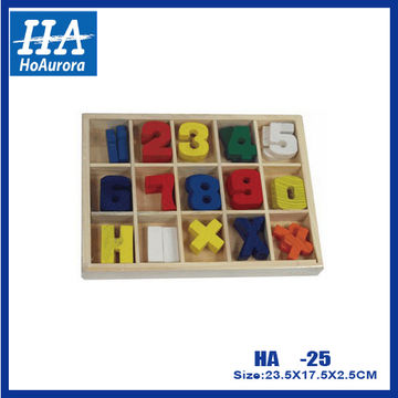 Wooden number puzzles, 3d number puzzles, wooden jigsaw