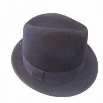 ... China Men Fashion 100% Fedora Wool Felt Hat 10ac65f9e