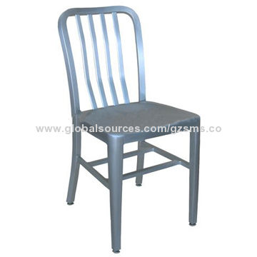 ... China Commercial French Style Aluminum Navy Dining Chair