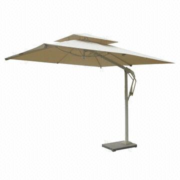 China Patio Umbrella With Aluminum Pole Water Resistant Fabric Uv Resistance Garden