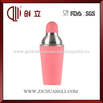 China 600mL blue color stainless steel cocktail shaker