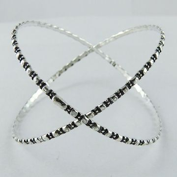 Round Oxidized 925 Sterling Silver Bangles Global Sources