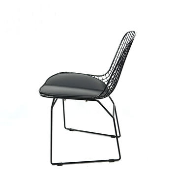 ... China Wire Chair Padded Chair Steel Wire Side Chair Colored Metal Cafe  Chair ...