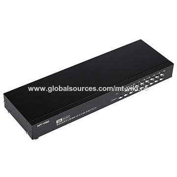 China 16-port smart manual USB KVM switch with IR 1 USB