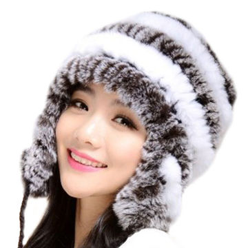 women bomber fur hat with earflaps winter russian earmuff genuine ... 7e52f1c9a4