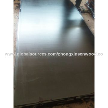 China Two time hot pressed black film faced plywood