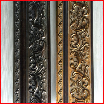 High Quality deep carved plastic gold picture frame moulding ...