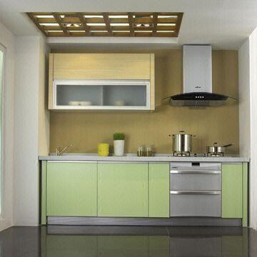 Kitchen Cabinet With 18mm Mfc Door Panel And Quartz Stone Counter