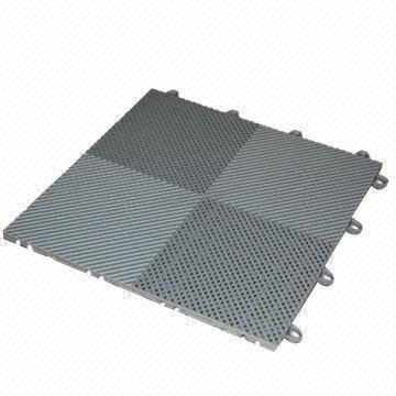China Interlocking Garage Floor Tiles Made Of High Impact Polypropylene