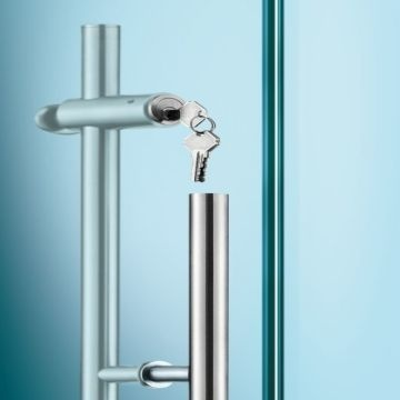 Handle Lockpull Handle With Lockglass Door Handle Global Sources