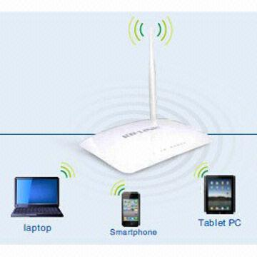 China Wireless Router, Rate Up to 150Mbps, Compatible with IEEE 802.11b/g/n Standard, Supports WMM
