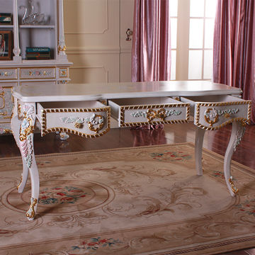 ... China French Baroque Style Luxury Executive Office Desk/ European  Classic Wood Writing Table ...
