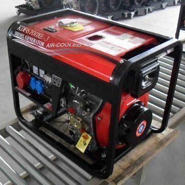 Diesel Generator with Big Wheel and Handle 5kva with Open