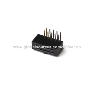 China 2.0mm Female Header Connector, 2-40P, Right angle Type, 6.35mm Height