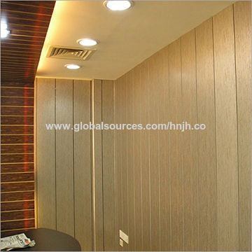 China Pvc Wall And Ceiling Panels Wooden Design For Indoor