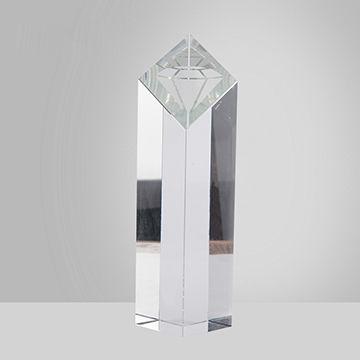 Factory price k9 bevel rhombus crystal trophy   Global Sources