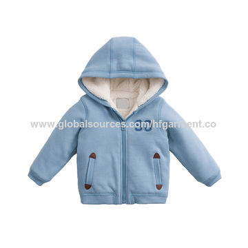 China OEM warmly children's winter coat with hoody kid's jacket in gray pink