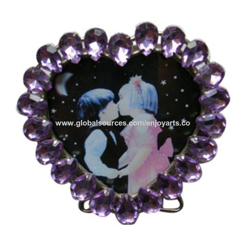 Purple Diamante Iron Photo Frame