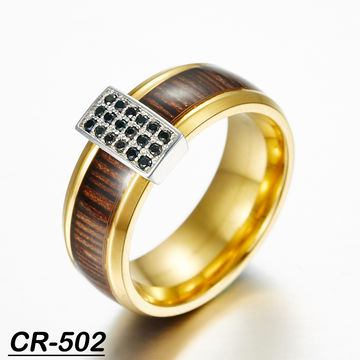 China Fashion Wedding Ring Tungsten And Silver Comb