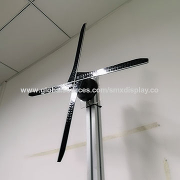 China Wifi controlled holographic 3d led fan display 56 cm with 4