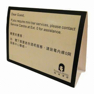 China Hotel Table Tent Cards 300gsm Cardboard Various Sizes are Available  sc 1 st  Global Sources & Hotel Table Tent Cards 300gsm Cardboard Various Sizes are ...