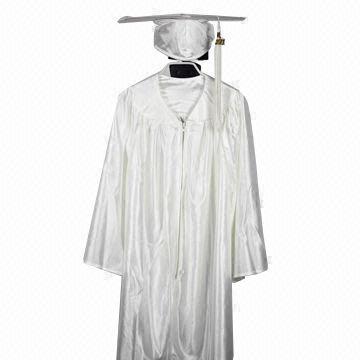 9f64efe5859 China Kindergarten Graduation Cap Gown in White