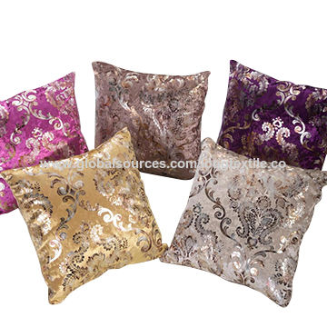 China Printing And Bronzed Design Sofa Upholstery Fabric For Sofa