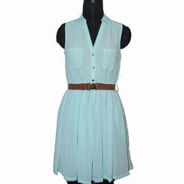 100 Polyester Chiffon Shirtwaist Dress China