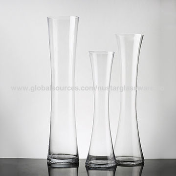 China Tall Concave Round Glass Vase Glass Gathering Vase On Global