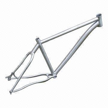 26er mountain bicycle frame made of full titanium