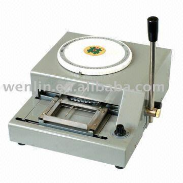 wenlin 2000 pvc card embossing machinerfid card code making machine smart card contact - Card Making Machine