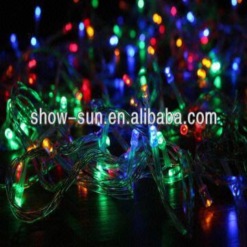 china 100l led christmas lights multi color