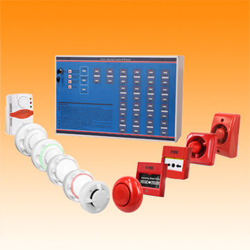 China Conventional fire alarm control panel, connect smoke detector and gas detector