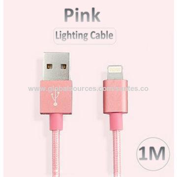 China MFi lightning cable in Al hardshell with TPE jacket+nylon braiding for iPad Mini