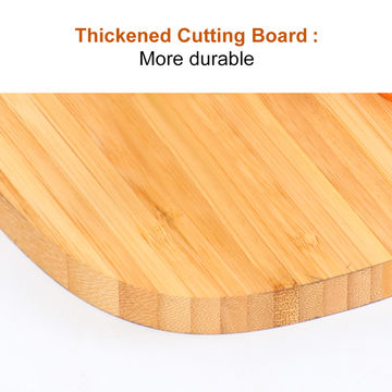 China 2018 Factory Wholesale Custom Natural Bamboo Round Edge Chopping Block