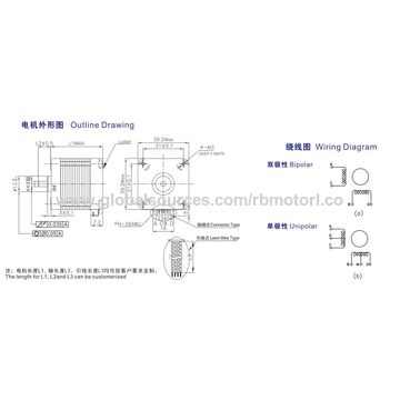 china micro motor 3 75-degree nema16 39mm stepper motor, ce approved  used to water