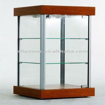 Mini Display Showcase Counter Tempered Gl 4 X 20 Watt Halogen Lights On