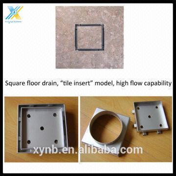 Stainless Steel Tile Insert Floor Drain Square Drain Square Floor