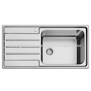 China Stainless steel kitchen sink (welding style, single ...