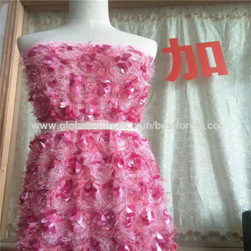 China Fashionable designs sequin embroidered fabric for dress