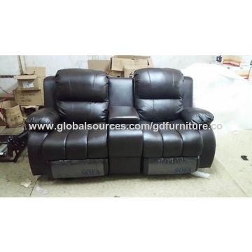Modern leather sofa home furniture reclining