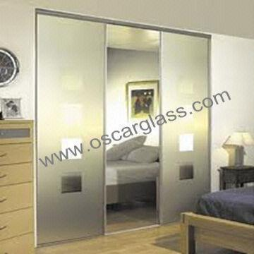 Wardrobe decorative glass/partition glass/sliding glass door/home ...