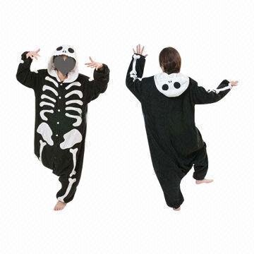 China JP Anime Kigurumi Pajamas Skeleton Skull Cosplay Costume Adult Pyjamas  Hoodies Party 97d8dffccb580