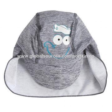 China Printed Swim Cap for Baby, UPF50+ baby and kid Cap