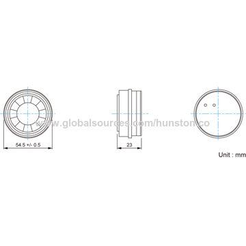 Hong Kong SAR SMD Piezo Transducer with Minimum Sound Output of 90dBA at 10cm