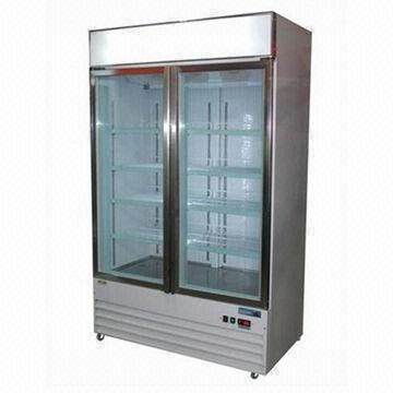 Two Glass Door Drink Freezer With Ventilated Cooling System Global