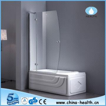 Hinge shower screenglass shower doorfolding bathtub screen jk118 china hinge shower screenglass shower doorfolding bat planetlyrics Image collections