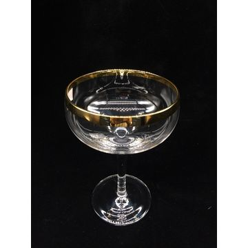 China Champagne flute with golden rim