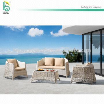 Outdoor Diy Sofa Creamy Loveseat Off White Rattan Furniture Cane