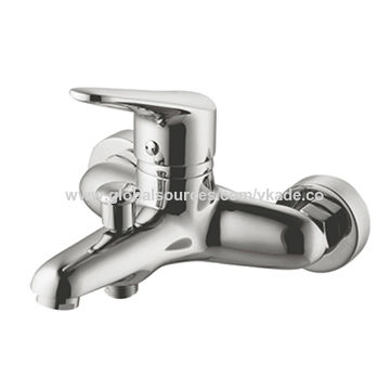 Modern Chrome Wall Mounted Manual Shower Mixer Valve Bathroom Faucet ...